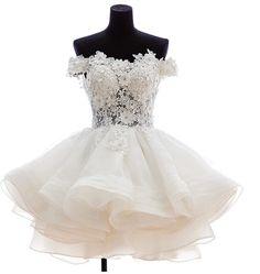 Lace Appliques Short Prom Dresses 20176 Elegant Lace A-Line Formal Party Dress vestidos de festa Elegant Beach Prom Dress
