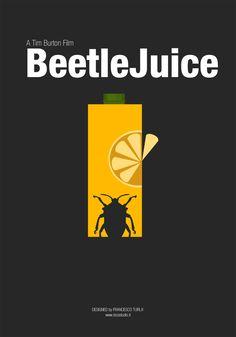 Beetlejuice (1988) ~ Minimal Movie Poster by Francesco Turla #amusementphile