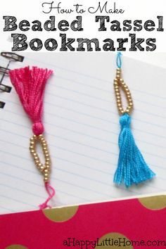 These beaded tassel bookmarks are the perfect DIY planner accessories! I can't wait to make a set of these DIY bookmarks for my journal and planner! I can mark my page in style. So pretty- love these!!