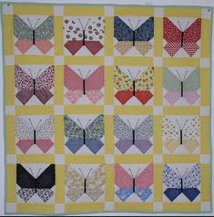 Retro Butterfly Quilt
