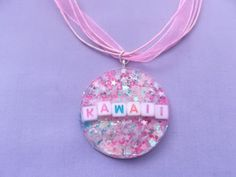 Kawaii collana collana resina Fairy Kei di MizziexoxoBoutique