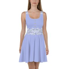 Electric Lilac Flower Print Skater Dress - AP STYLE LOFT #dress #lilac #electriclilac #flower #flowerdress #lilacdress