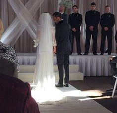 Tyler Joseph and Jenna Joseph on their wedding day