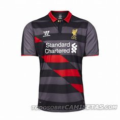 6c6959a03 Liverpool Home and Away Kits Released + new Liverpool Third Shirt. The new  Warrior Liverpool Home Jersey is red with white details