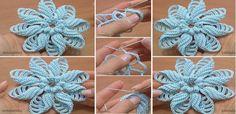 Crochet Folded Petal Flower (Video)