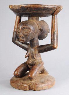 Exquisite Luba Caryatid Stool Tribal ART African Congo DRC Africa Arts Premiers   eBay: