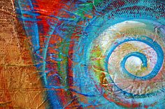 A painting detail from one of my Energy Paintings   Nikki Shannon