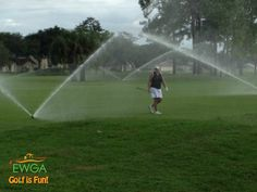 Submitted by Michele L. from Southwest Florida Chapter. The first Wednesday golf league, in Naples, FL, Spanish Wells had the sprinkler on (by mistake) during our last few holes!