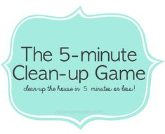 I know we are all busy and don't have a lot of time to clean up the house, which is why I love the 5 minute clean-up game. Let me tell you how it works.