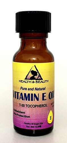 Tocopherol T50 Vitamin E Oil Anti Aging Natural Premium Pure 05 oz in Glass Bottle *** Check this awesome product by going to the link at the image.