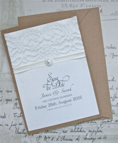Handmade Save the Date Cards and Invitations, by Little France Boutique. www.littlefranceboutique.co.uk