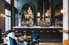 restaurant interieur AD Design Show is almost read - Bar Lounge, Lounge Design, Hotel Lounge, Office Lounge, Lounge Decor, Design Room, Back Bar Design, Lobby Lounge, House Bar Design