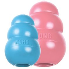 KONG Puppy Kong Toy, Small, Assorted Pink/Blue