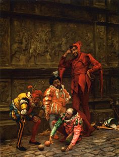 Court Jesters Playing Bowls Spain by Eduardo Zamacois y Zabala (1868) Private collection
