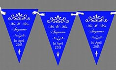 buy now   $9.95  This Personalized Bunting is printed one side onto the highest quality silk finish 350gsm card, The holes are pre-punched ready for you to thread through the ribbon yourself. The ribbon is provided. You can choose up to 4 different personalisation messages as standard. Every...