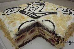 """Предлагаю вашему вниманию свою импровизацию на тему торта """"Монастырская изба"""". Недавно попробовав этот торт в кафешке, мне показалось, что ему чего-то не… Hungarian Cake, Russian Desserts, Cooking Cake, Dessert Bread, Sweet And Spicy, Cake Recipes, Sweet Tooth, Pie, Sweets"""