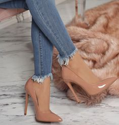 Beautiful shoes with heels for women trend 2018 - High Heels - Zapatos Cute Heels, Lace Up Heels, Pumps Heels, Stiletto Heels, Beige Heels, Nude High Heels, Brown Heels, Nude Pumps, High Heel Pumps
