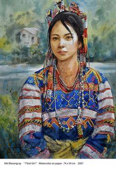 T'boli Girl Filipino Art, Filipino Culture, High Fantasy, Fantasy Rpg, Cultura Filipina, Alibata, Filipino Fashion, Philippine Art, Culture Clothing