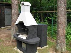 Znalezione obrazy dla zapytania grill betonowy z wędzarnią