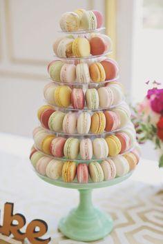 Wedding Macarons Tower