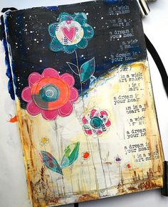 Susanne Rose Designs: Mixed Media Art Journal Collage