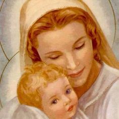 Fotos de la biografía - Divina Misericordia Jesus Mother, Blessed Mother Mary, Blessed Virgin Mary, Mother And Child, Religious Pictures, Religious Art, Images Of Mary, Images Of Mother Mary, Religion Catolica