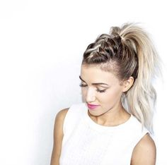 mohawk braid ponytail