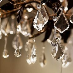 Add some sparkle to your home with a gorgeous crystal chandelier.