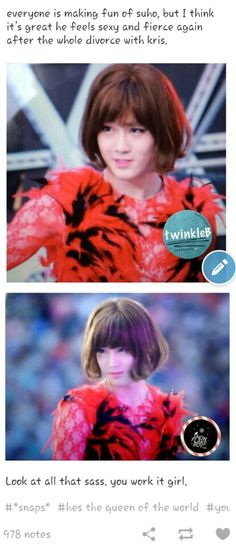 Holy shush!?! O_O I wasn't looking at the face properly and I thought he was a girl... ._.v omo...