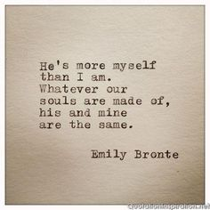 She is more myself...Love Quotes