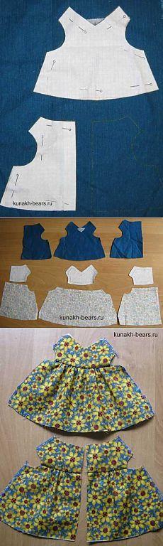 Juguete Derechos de Autor Kunakh Irina - vestido Bilateral para los osos.