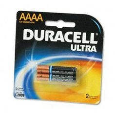 Duracell® Ultra Alkaline Batteries, AAAA, 2/pack by Duracell®. $6.99. Duracell® Ultra Alkaline Batteries, AAAA, 2/packFor photographic and electronic devices such as flashes, remote control toys and halogen flashlights, choose M3 Technology enhanced Ultra Digital batteries. They feed dependable, long lasting power to the most power hungry electronics. Secure seal provides additional leakage and corrosion resistance. Seven year shelf-life. Global Product Type: Batter...