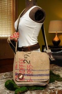 How about this burlap idea? Wiseable Burlap Messenger Bag by wiseabe