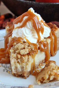 While you probably eat cheesecake year-round, this seasonal twist will make you so excited for fall. Caramel Apple Crisp Cheesecake is a crowd pleaser.