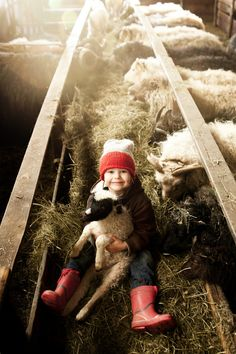 ...away in a manger - a child with a lamb - by Freeman's 40 on Tumblr
