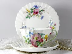 Royal Doulton Arcadia Trio Tea Cup Saucer and Side Plate - England 11777 by TheVintageTeacup, $36.00 USD