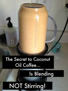 Woah!  this is really good. Just made it this morning. Coconut Oil Coffee (Blended, Not Stirred...That's the Secret!)