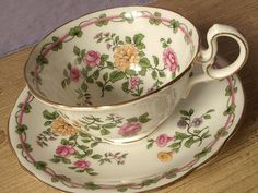 antique tea cup and saucer Aynsley English