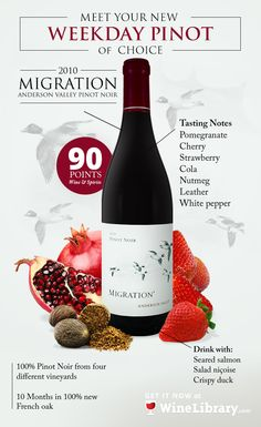 This wine displays lovely complexity with a rich entry, balanced acidity, good… Nicoise Salad, Wine Vineyards, Wine Display, Red Fruit, Wine And Spirits, Pinot Noir, Pomegranate, Red Wine, Alcoholic Drinks