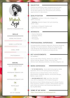 """Check out my @Behance project: """"Creative Resume"""" https://www.behance.net/gallery/41131235/Creative-Resume"""
