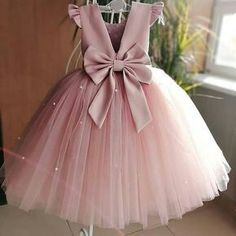 Zolindu Ani Tea Pink Dress Bridal Tulle, Layered Tulle, Stuffed Bow, Cotton Lining Lined For Added Comfort Steam To Fluff Soft Pink Dress, Blush Flower Girl Dresses, Dusty Pink Dresses, Puffy Dresses, Tulle Flower Girl, Princess Flower, Pink Tulle, Prom Dresses, Disney Princess