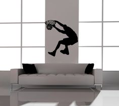 Kids Vinyl Wall Art Basketball Player Sports Decals. $27.50, via Etsy.