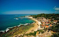 Beautiful villages morro de sao paulo brazil