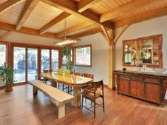 N.J. Timber Frame With a Floating Staircase Asks $4.5M - House of the Day - Curbed National