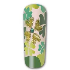 """Step-by-step tutorial on how to create these shamrock green """"Hide and Seek Clover"""" nails for St. Patrick's Day!"""