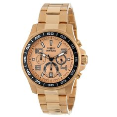 Invicta 14392 Men's Specialty Chronograph Gold Dial Gold Plated Steel Watch