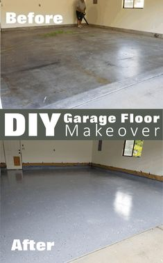 How to epoxy a garage floor by using Rust-Oleum EpoxyShield Garage Floor Coating. Its an easy 2 day project and totally worth it.