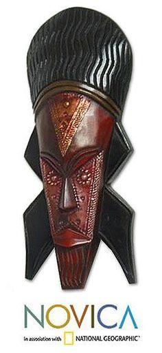 Novica Sese Wood and 'Good Service' Akan Mask