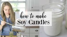 Easy Healthy Hot Cocoa Recipe - Artful Homemaking Beeswax Candles, Diy Candles, Scented Candles, Yankee Candles, Ideas Candles, Candle Decorations, Mason Jar Crafts, Mason Jars, Cheap Stocking Stuffers