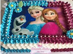 Elsa Birthday Cake, Frozen Birthday Outfit, Third Birthday Girl, Frozen Themed Birthday Party, Disney Birthday, Cool Birthday Cakes, 2nd Birthday Parties, Bolo Elsa, Disney Frozen Party